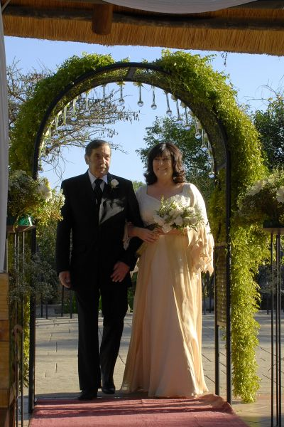 walking down the aisle at Valverde