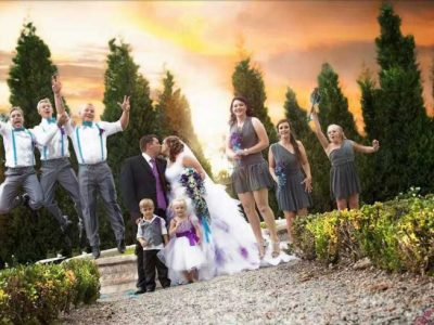 Valverde sunset with bridal party