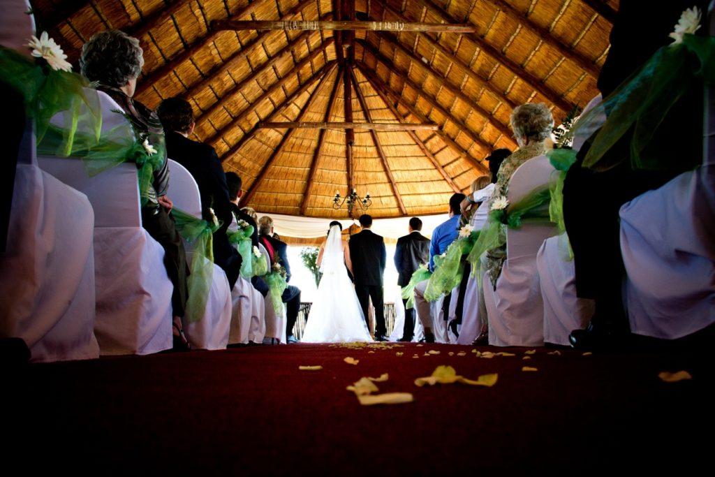 Vistal chapel, wedding in progress