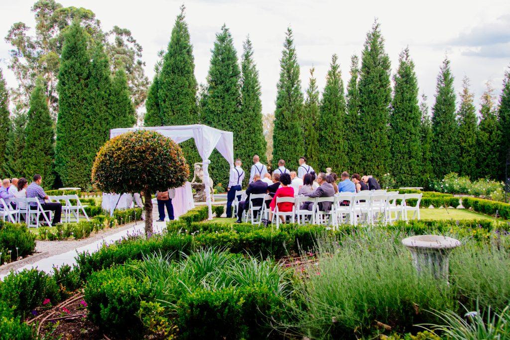 Garden Wedding in the making at Valverde