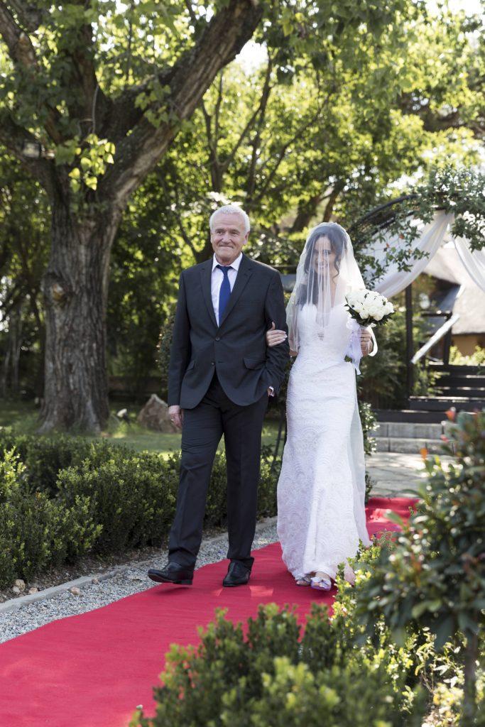 Valverde Bride arriving at Ceremony