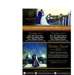 Valverde Wedding Specials 2021-22